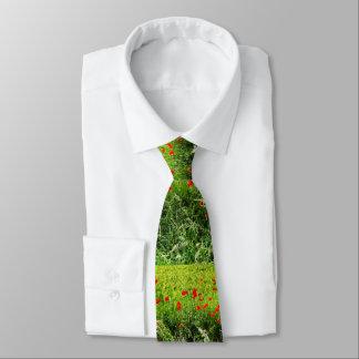 Poppies in Summer Neck Tie