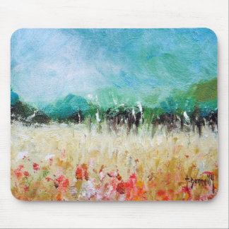 Poppies In The Cornfield Mouse Pad