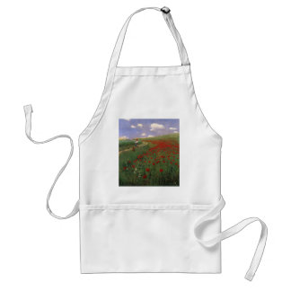 Poppies in the Field SZINYEI MERSE, Pál red flower Adult Apron