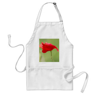 poppies in the garden adult apron