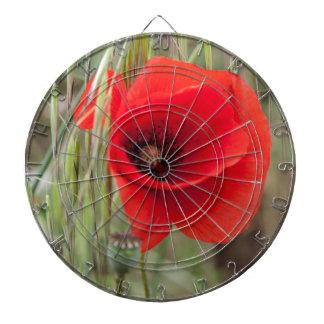 poppies in the garden dartboard