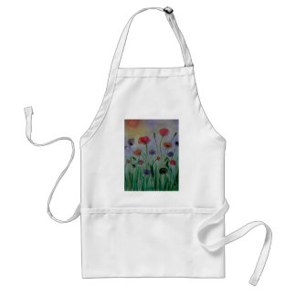 poppies in the meadow adult apron
