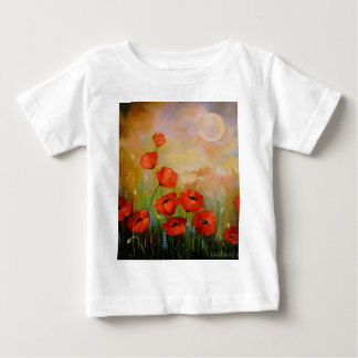 Poppies in the moonlight baby T-Shirt