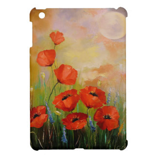 Poppies in the moonlight iPad mini cover