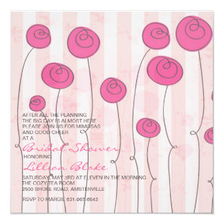 Poppies in the Wind Bridal Shower Invitation