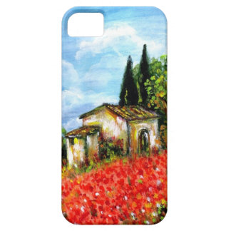 POPPIES IN TUSCANY iPhone 5 CASES