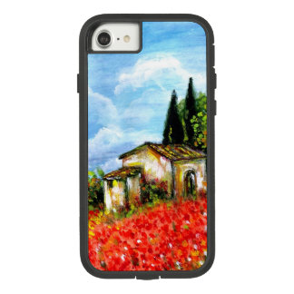 POPPIES IN TUSCANY / Landscape with Flower Fields Case-Mate Tough Extreme iPhone 8/7 Case