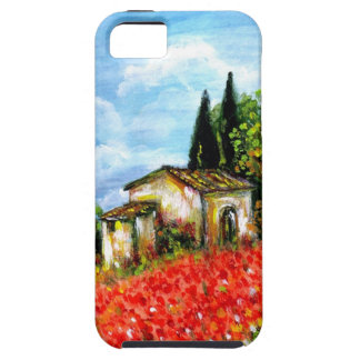 POPPIES IN TUSCANY / Landscape with Flower Fields iPhone SE/5/5s Case