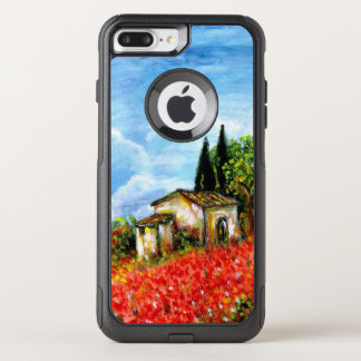 POPPIES IN TUSCANY / Landscape with Flower Fields OtterBox Commuter iPhone 8 Plus/7 Plus Case