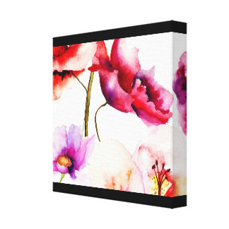 Poppies in Water Colors Canvas Print