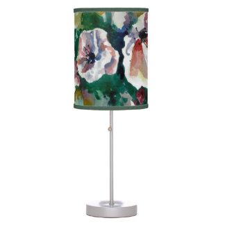 Poppies in Watercolor Rice Paper Lamp