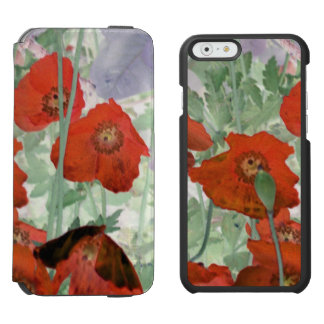 poppies iPhone folio wallet case