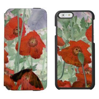 poppies iPhone folio wallet case Incipio Watson™ iPhone 6 Wallet Case