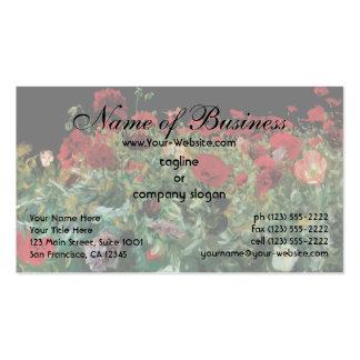 Poppies, John Singer Sargent, Vintage Realism Art Business Card