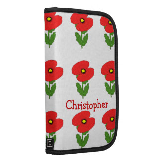 Poppies Just Add Name Folio Planners