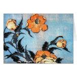 Poppies, Katsushika Hokusai Greeting Card