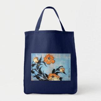 Poppies, Katsushika Hokusai Tote Bag