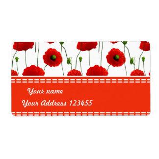 Poppies Label
