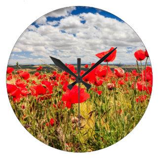 Poppies Large Clock