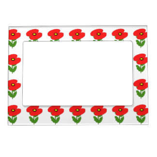 Poppies Magnetic Picture Frame