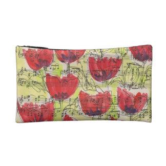 poppies make up bag, makeup bag