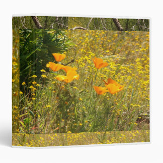 Poppies Meadows Collage Avery Binder