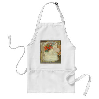 Poppies Memories and French Script Adult Apron