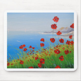 Poppies near the sea mouse pad