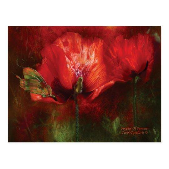 Poppies Of Summer Art Postcard