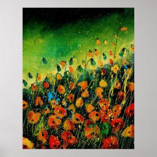 poppies orange 459080 posters