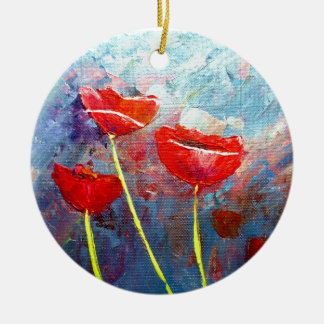Poppies Ornaments