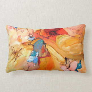 Poppies painting. Colorfull designer pillows