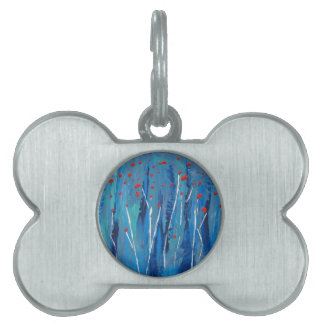 Poppies Pet ID Tags