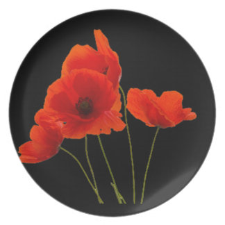"""""""Poppies"""" Party Plates"""