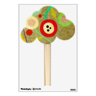 Poppies Polka Dots Colorful Unique Nature Wall Sticker