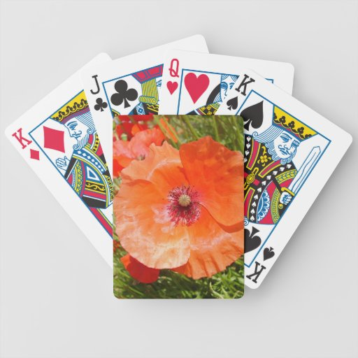 Poppies - Poppies Bicycle Playing Cards