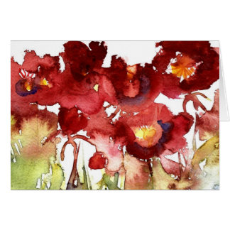 poppies, poppies, poppies card