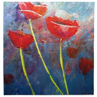 Poppies Printed Napkin