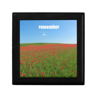 Poppies remember gift box