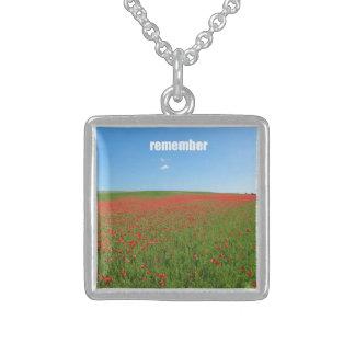 Poppies remember pendants