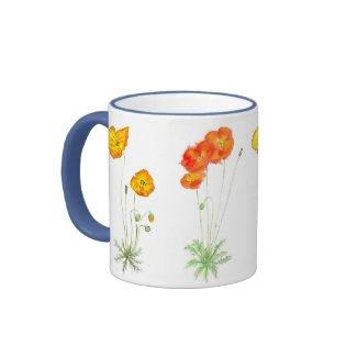 'Poppies' Ringer Mug mug
