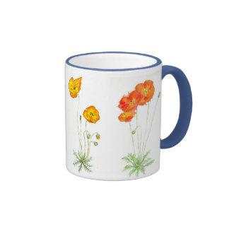 'Poppies' Ringer Mug