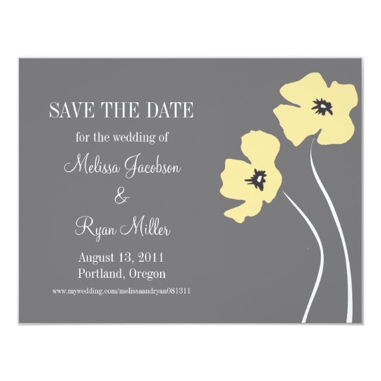 Poppies Save the Date Card