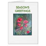 Poppies, SEASON'S GREETINGS Greeting Cards
