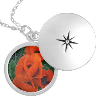 Poppies Silver Plated Necklace