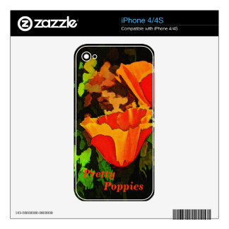 Poppies iPhone 4S Decal