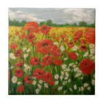 Poppies Small Square Tile