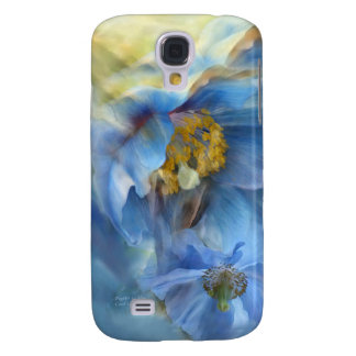 Poppies So Blue Art Case for iPhone 3 Samsung Galaxy S4 Covers