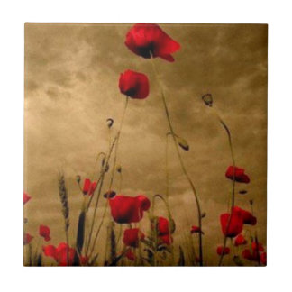 Poppies Ceramic Tile