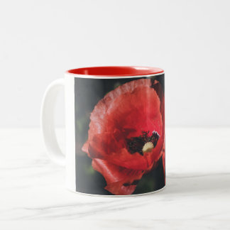 Poppies Two-Tone Coffee Mug
